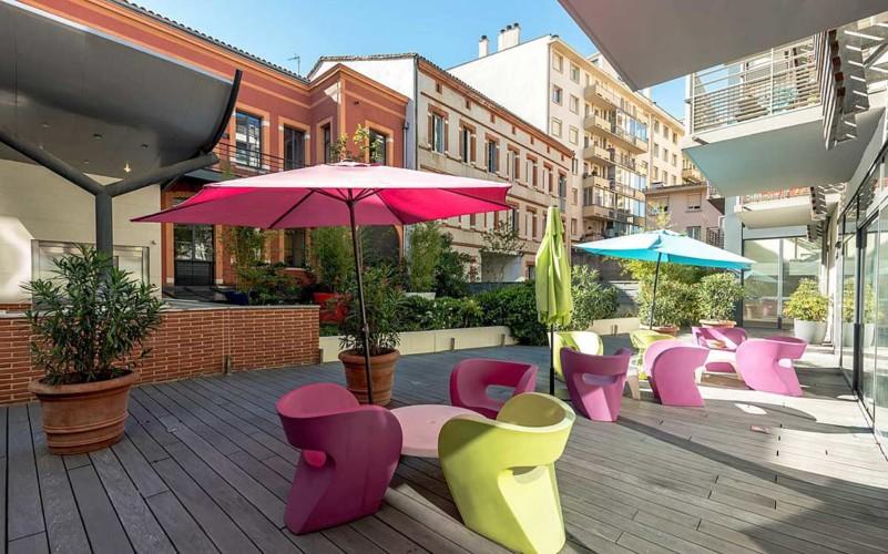 Appart Hôtel Clément Ader, Toulouse (terrasse)