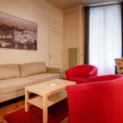 Apparthotel Paris, Résidence Charles Floquet (salon appartement meublé)